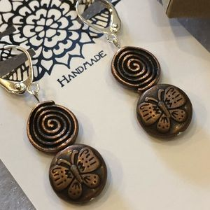 Casey Keith Design Jewelry - Cooper Flutterby Spiral Earrings